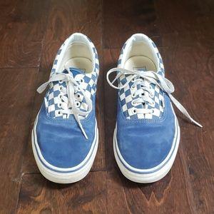 Blue checkered boys Vans. Size 9.